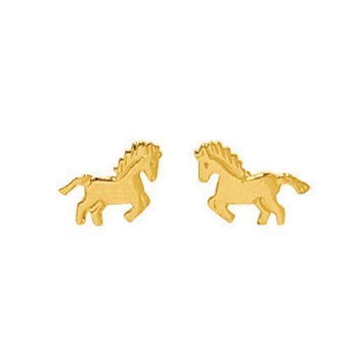 Boucles d'oreilles cheval en or jaune 750 millièmes