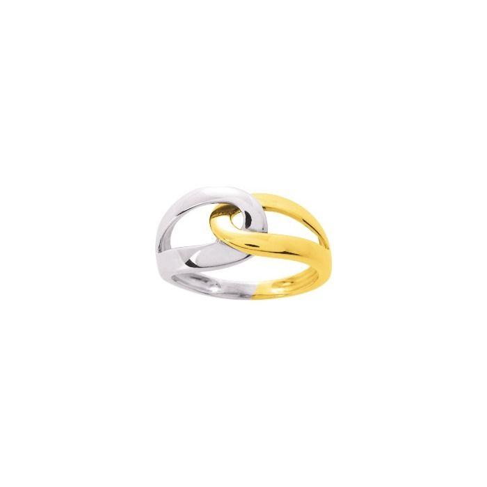 Bague en or jaune et or blanc