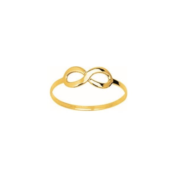 Bague infini en or jaune