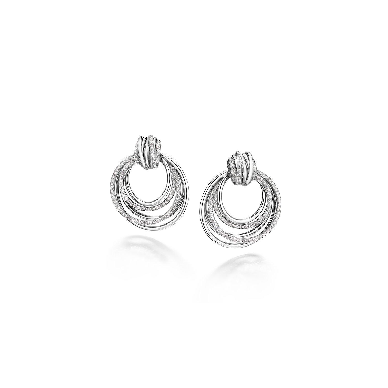 Boucles d'oreilles de GRISOGONO Allegra en or blanc et diamants  vue 1