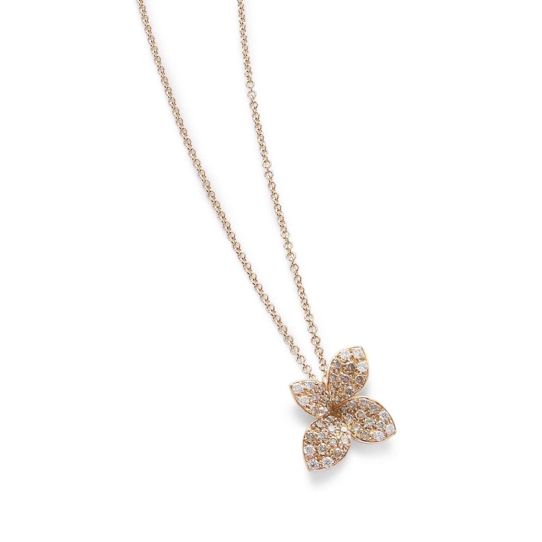 Pendentif Pasquale Bruni Petit garden en or rose, diamants bruns et blancs