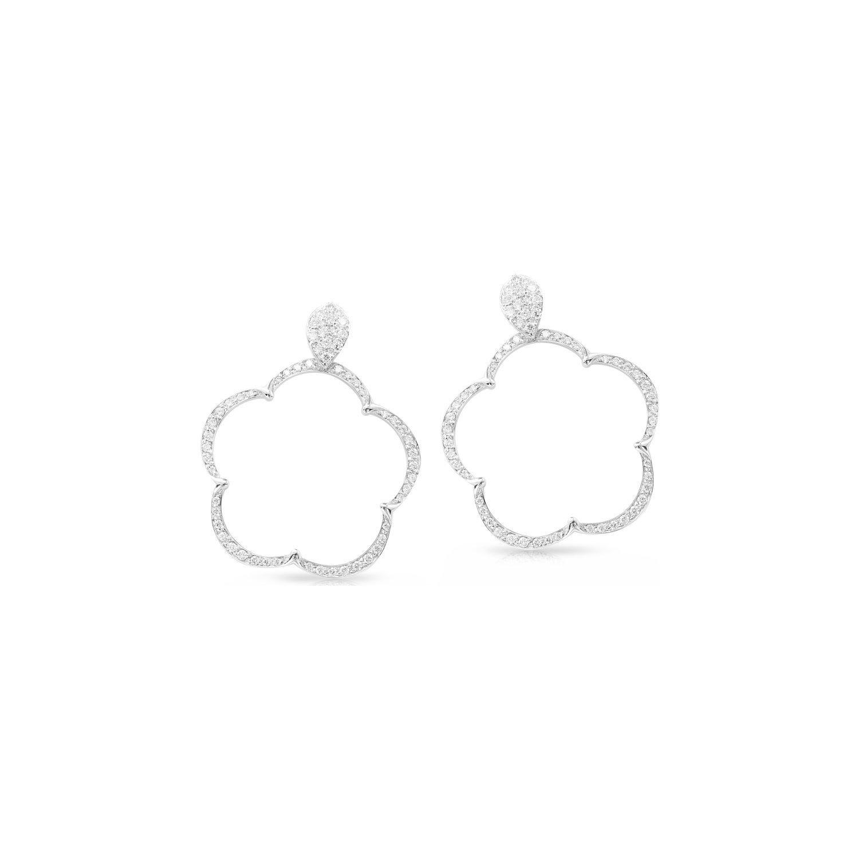 Boucles d'oreilles Pasquale Bruni Jolì en or blanc et diamants blancs