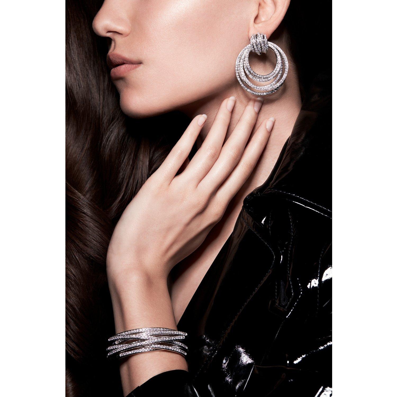 Boucles d'oreilles de GRISOGONO Allegra en or blanc et diamants  vue 2
