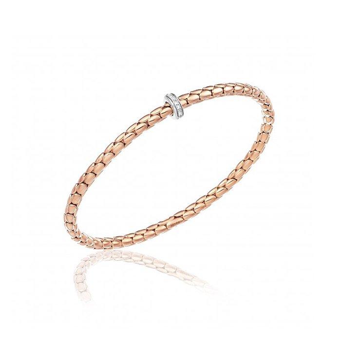 Bracelet CHIMENTO Stretch Spring en or rose, or blanc et diamants