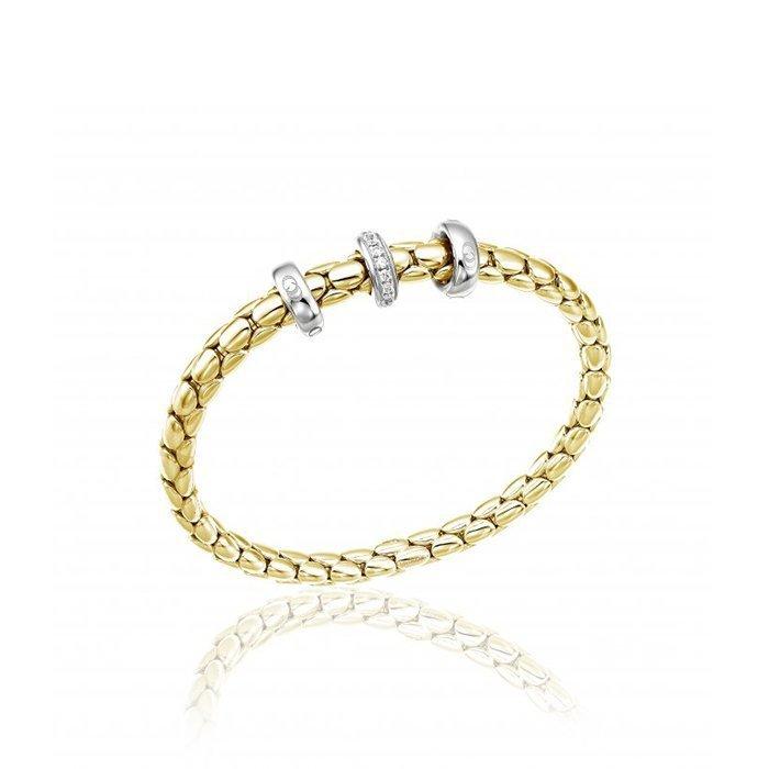 Bracelet CHIMENTO Stretch Spring en or jaune, or blanc et diamants
