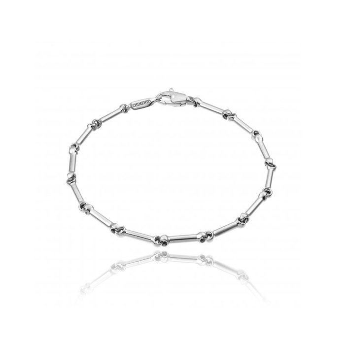 Bracelet CHIMENTO Tradition Gold Bamboo classic en or blanc