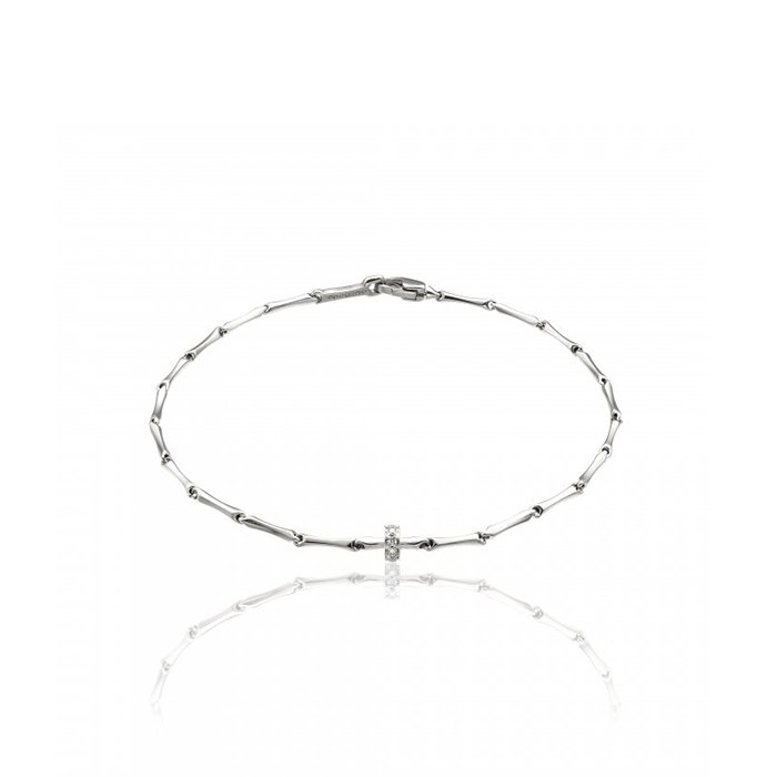 Bracelet CHIMENTO Bamboo Shine en or blanc et diamants