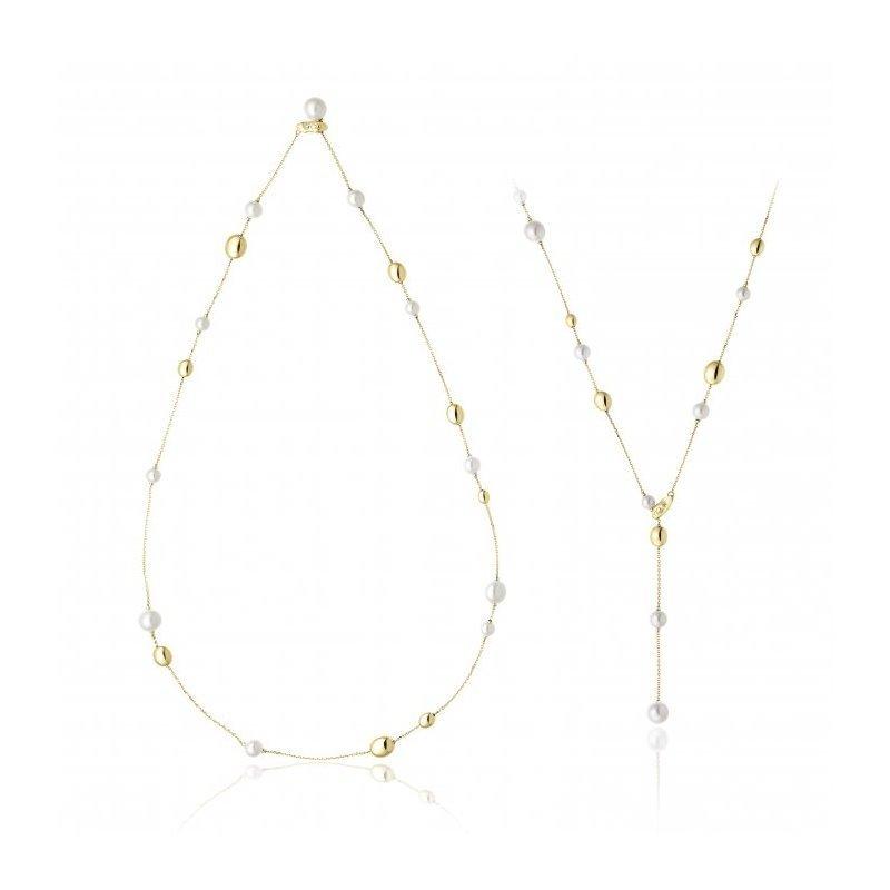 Collier CHIMENTO Armillas Acqua Pearl en or jaune, perles d'eau douce et diamant