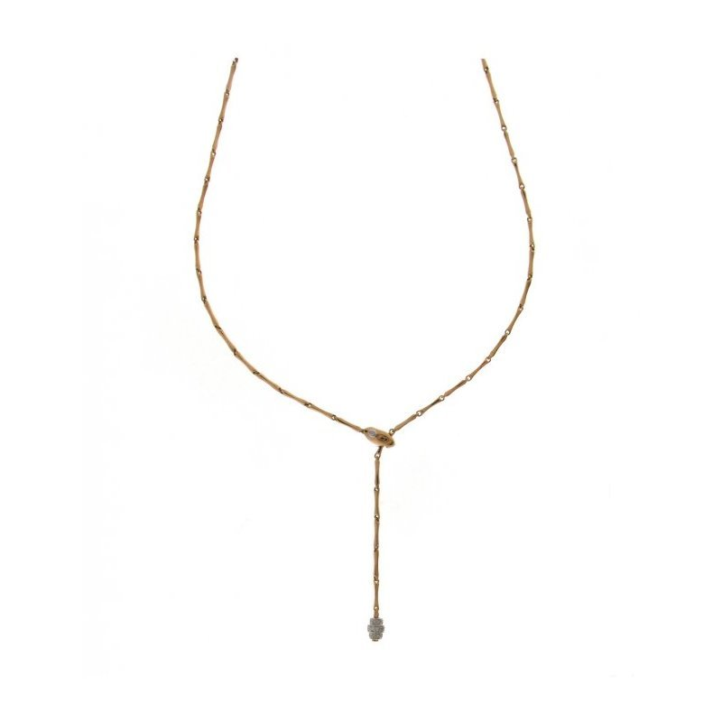 Collier CHIMENTO Bamboo Shine en or rose, or blanc et diamants