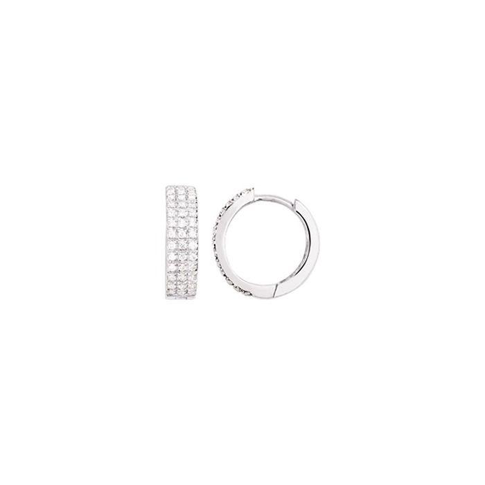 Boucles d'oreilles en or blanc et diamants de 0.25ct
