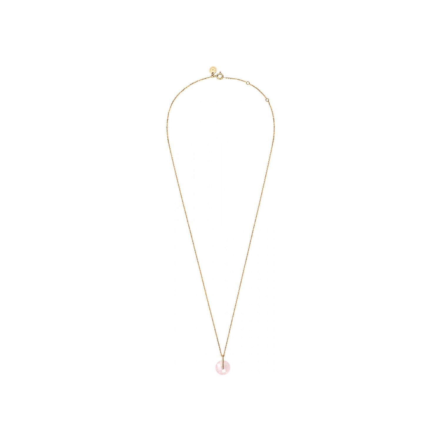 Collier Morganne Bello Honoré en or jaune et quartz rose