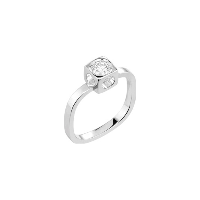 Bague dinh van Le Cube Diamant en or blanc et diamant