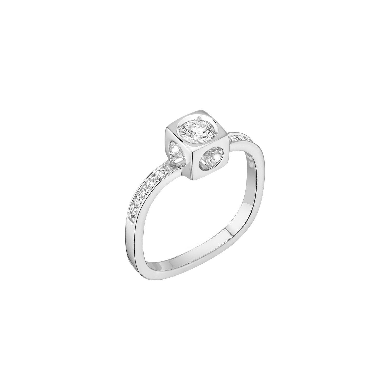 Bague dinh van Le Cube Diamant en or blanc et diamants