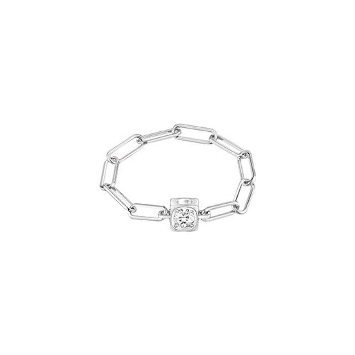 Bague dinh van Le Cube Diamant petit modèle en Or blanc et Diamant
