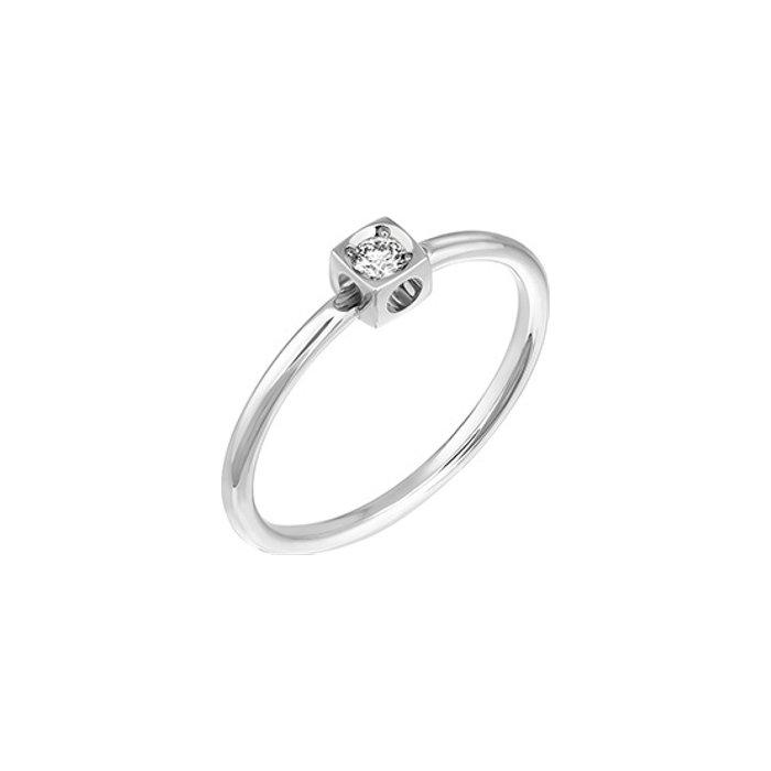 Bague dinh van Le Cube Diamant en or blanc et diamant XS
