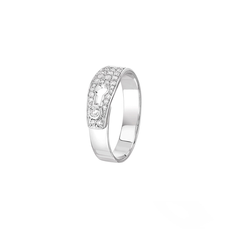 Bague dinh van Serrure en or blanc et diamants vue 1