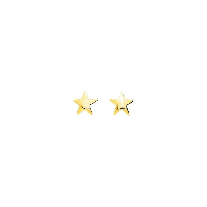 Boucles d'oreilles étoile en or jaune