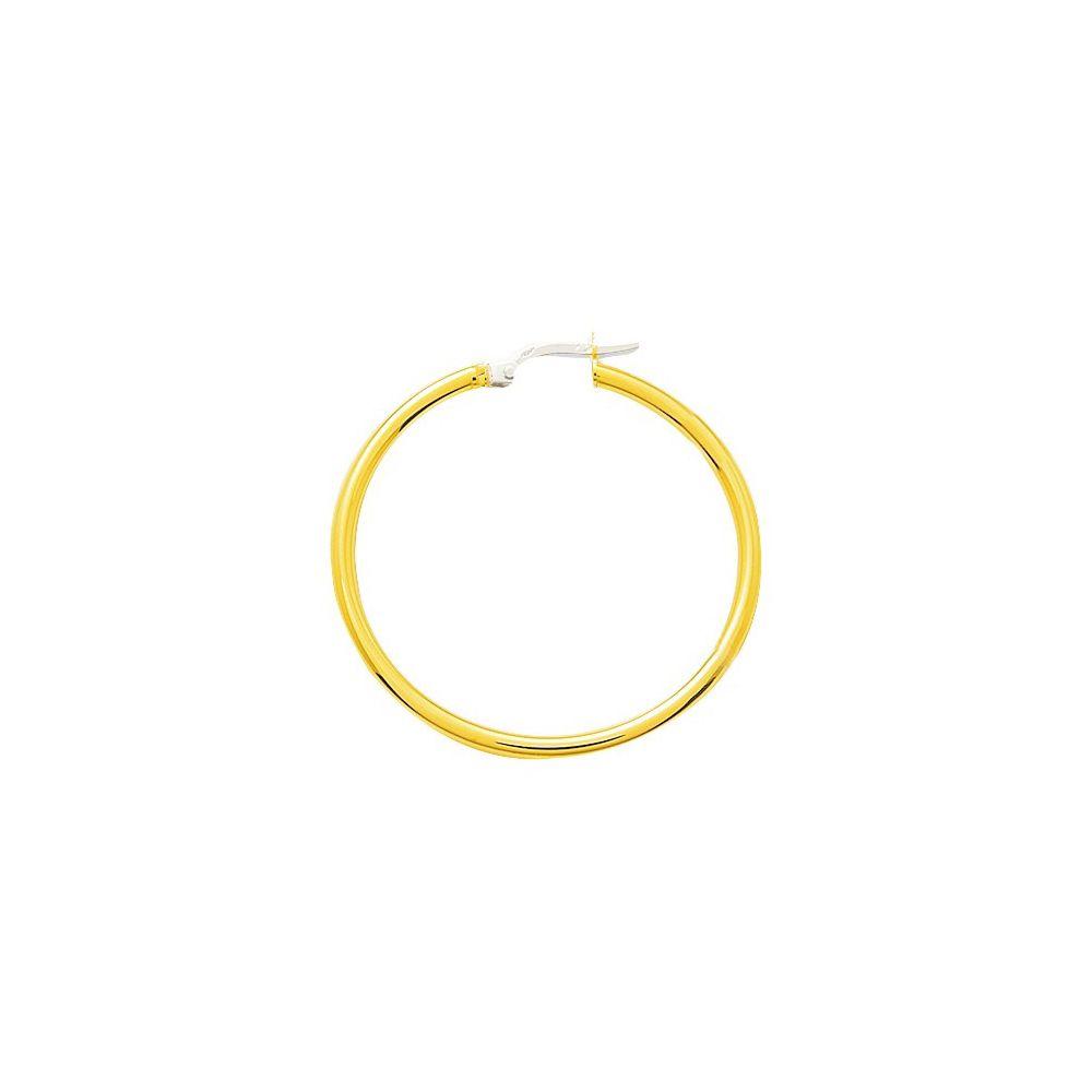 Boucles d'oreilles créoles lisses en or jaune