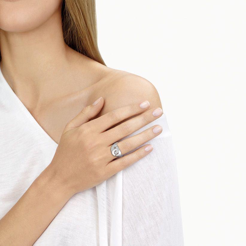 Bague dinh van Menottes dinh van en or blanc et diamants vue 2