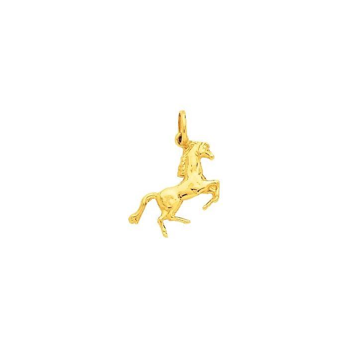 Pendentif cheval en or jaune