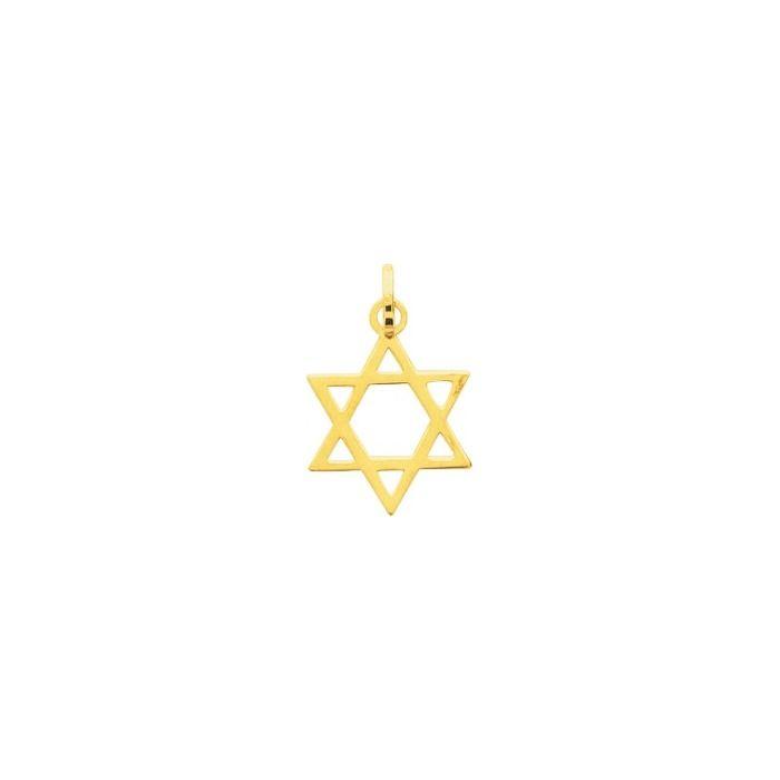 Pendentif étoile de David en or jaune