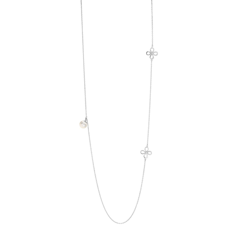 Collier sautoir Murat en argent, perle et oxydes de zirconium vue 1