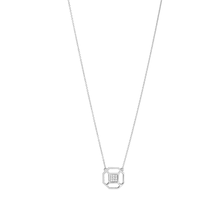 Collier Murat en argent et oxydes de zirconium vue 1