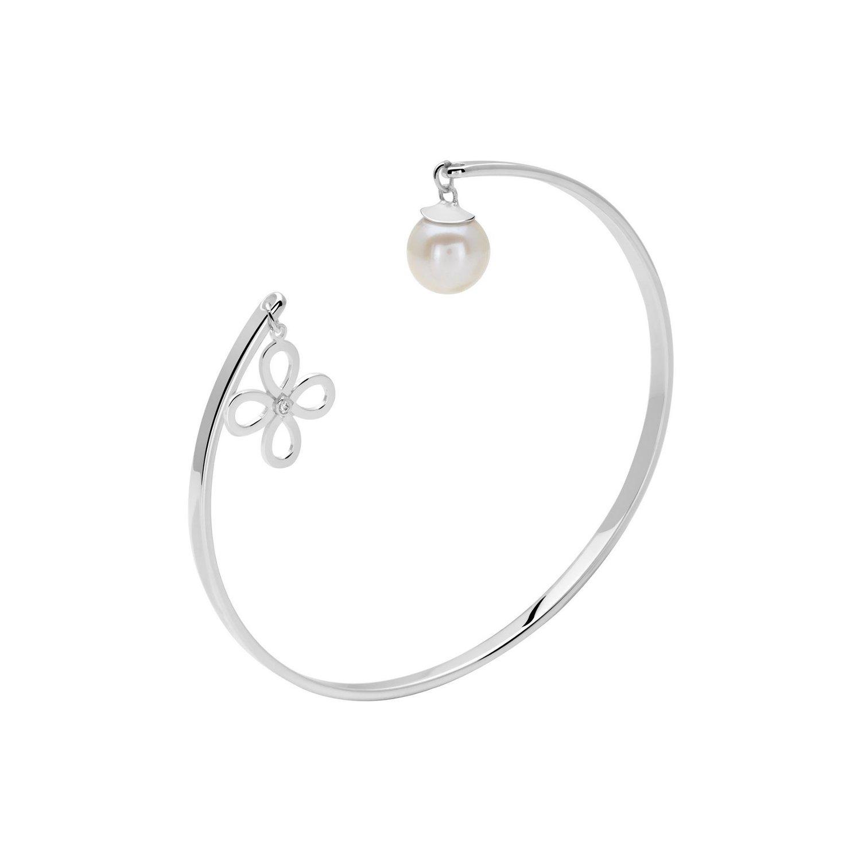 Bracelet Murat en argent, perles et oxyde de zirconium vue 1