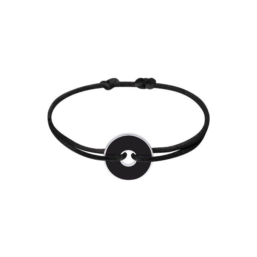 Bracelet sur cordon dinh van Pi chinois White & Black en Argent et onyx