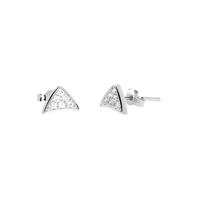 Boucles d'oreilles Murat en argent et oxydes de zirconium vue 1