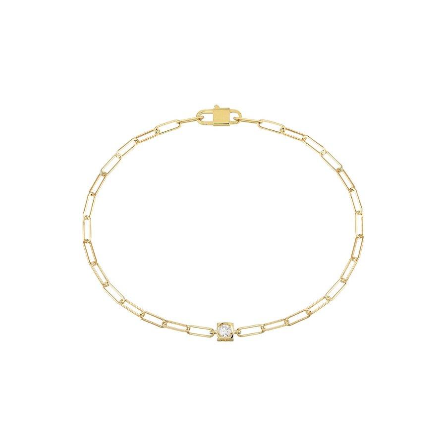 Bracelet dinh van Le Cube Diamant en or jaune et diamant vue 1