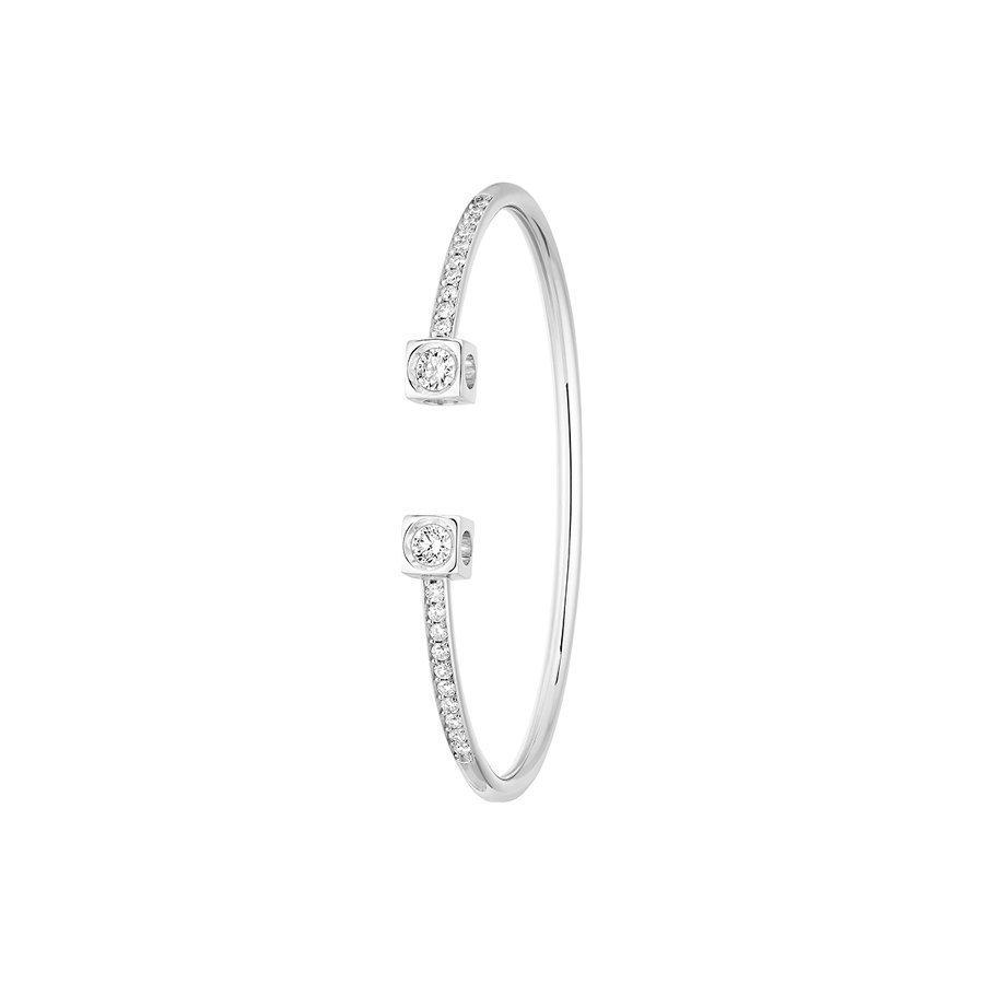 profiter de prix pas cher magasin en ligne code de promo Bracelet dinh van Le Cube Diamant en or blanc et diamants XL