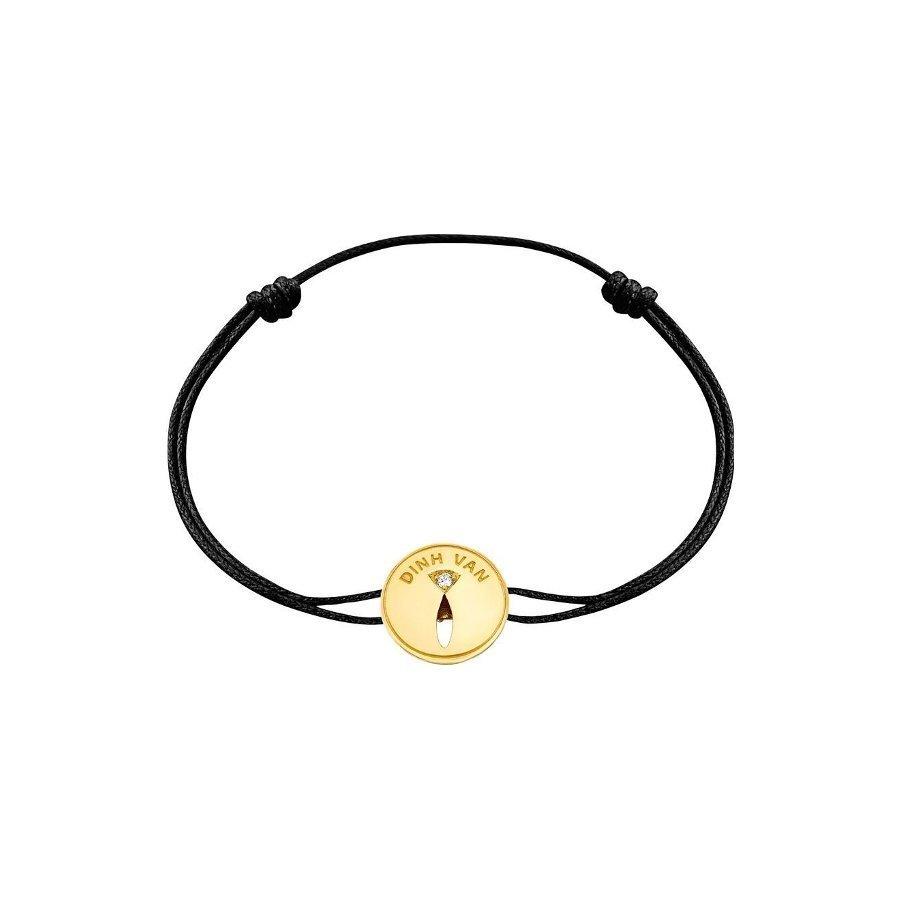 Bracelet sur cordon dinh van Punaise en Or jaune et Diamant