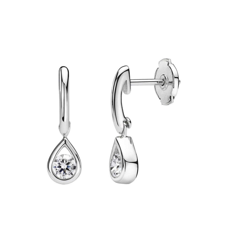 Boucles d'oreilles en or blanc et diamants de 0.20ct