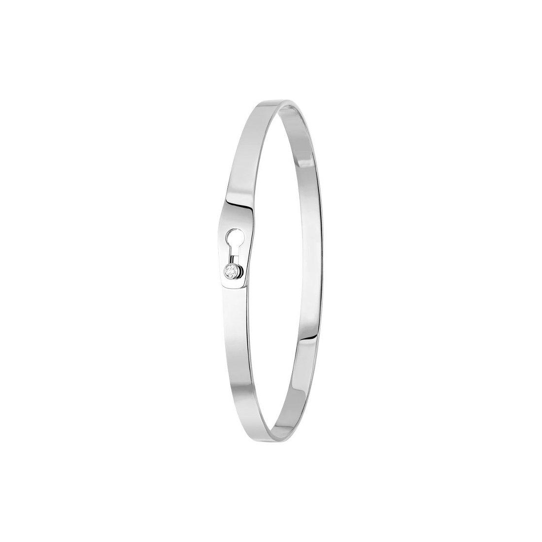 Bracelet dinh van Serrure en or blanc et diamants vue 1