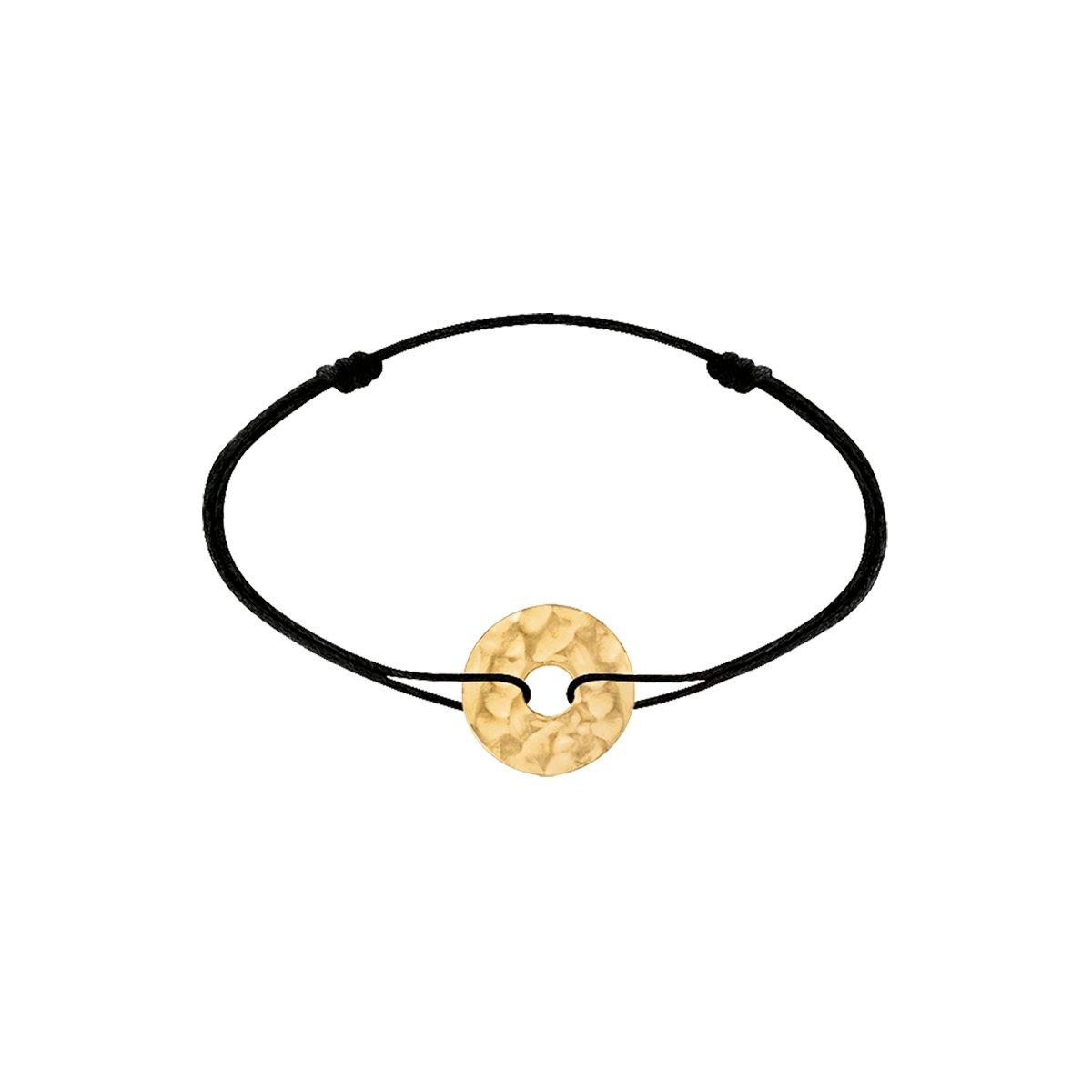 Bracelet sur cordon dinh van Pi en or jaune vue 1