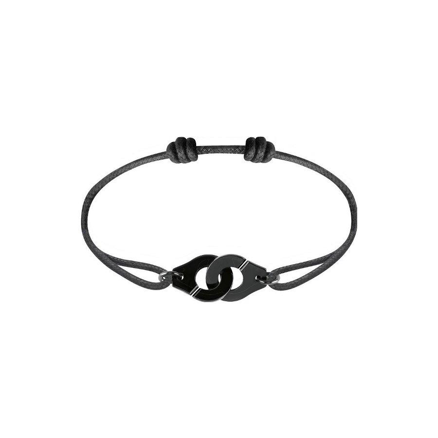 Bracelet sur cordon dinh van Menottes dinh van R12 en Argent plaqué noir