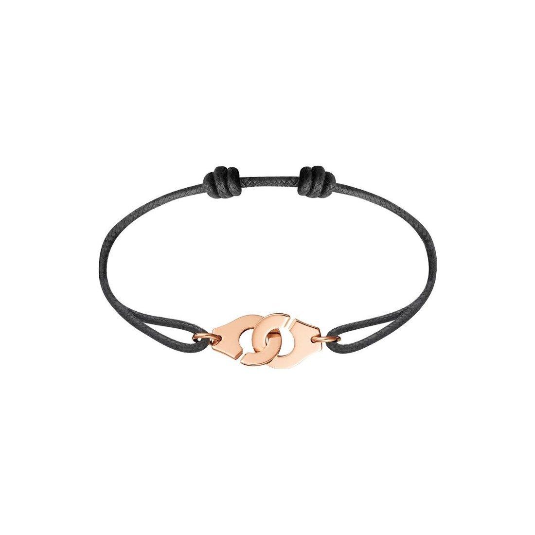 Bracelet sur cordon dinh van Menottes dinh van R12 en or rose vue 1