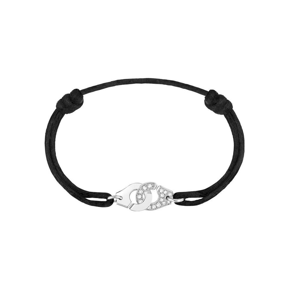 Bracelet sur cordon dinh van Menottes R10 en Or blanc et Diamant