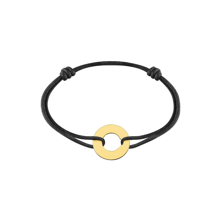 Bracelet sur cordon dinh van Cible grand modèle en Or jaune