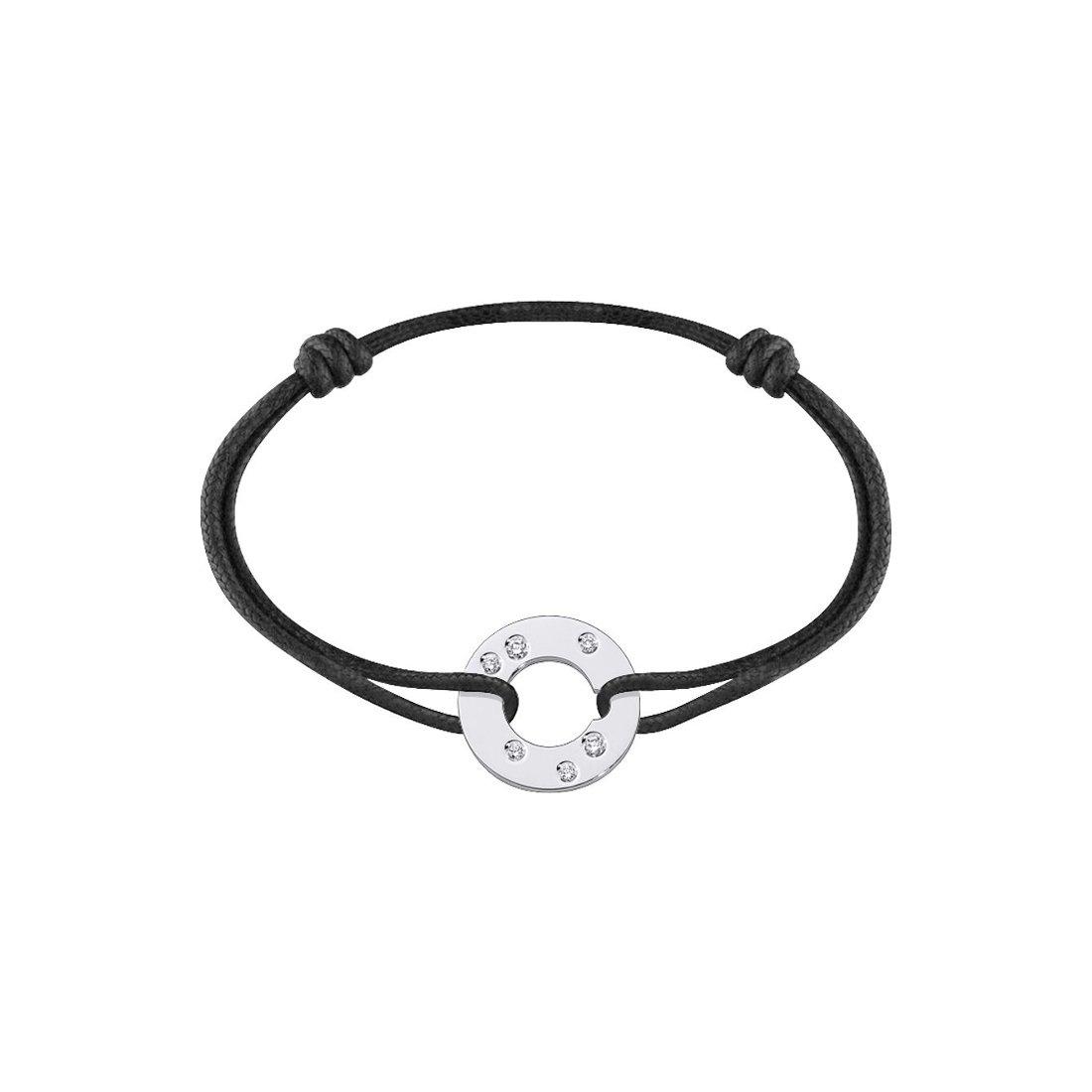 Bracelet dinh van Cible en or blanc et diamants