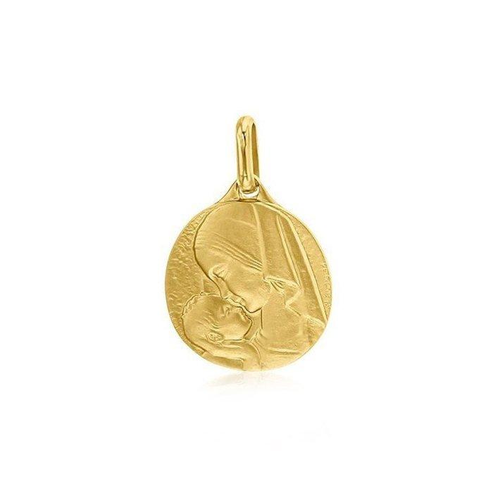Médaille de baptême Augis Vierge à l'enfant en or jaune