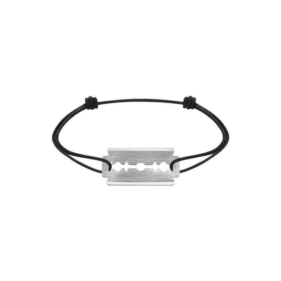 Bracelet sur cordon dinh van Lame de Rasoir en Or blanc