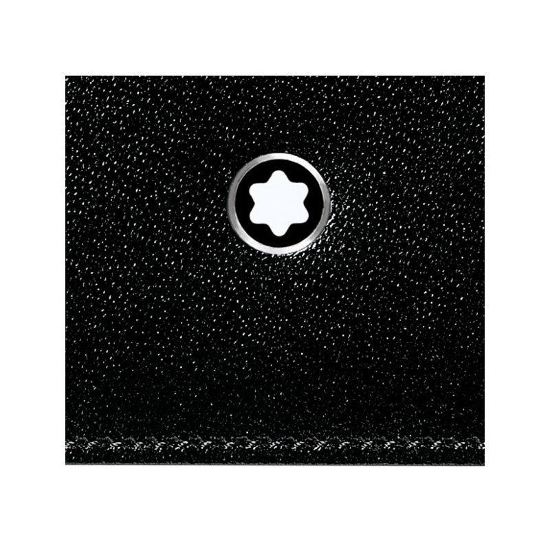 Portefeuille Montblanc Meisterstück en cuir noir vue 3