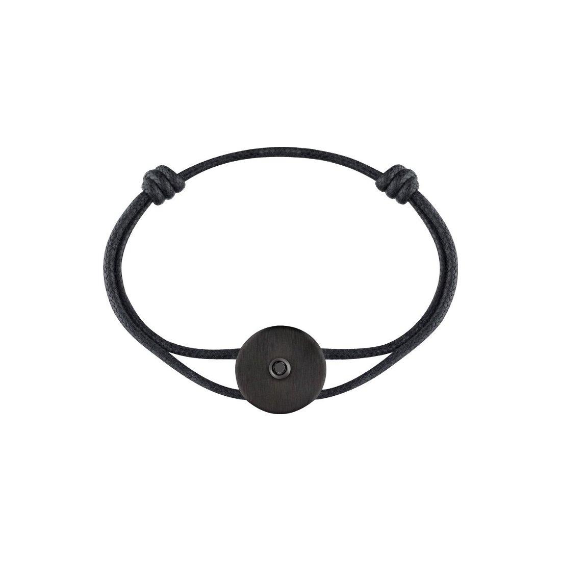 Bracelet dinh van Pi en carbone et diamant noir