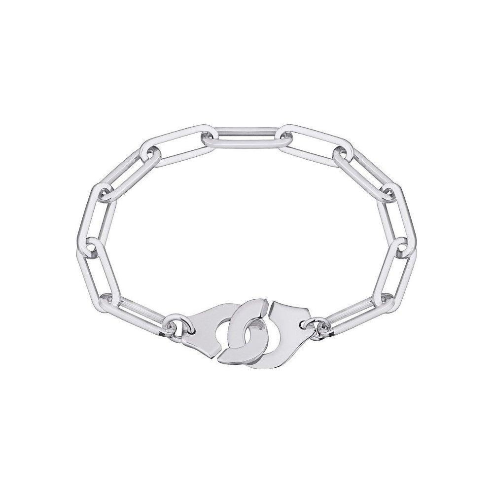 Bracelet dinh van Menottes dinh van R15 en or blanc vue 1