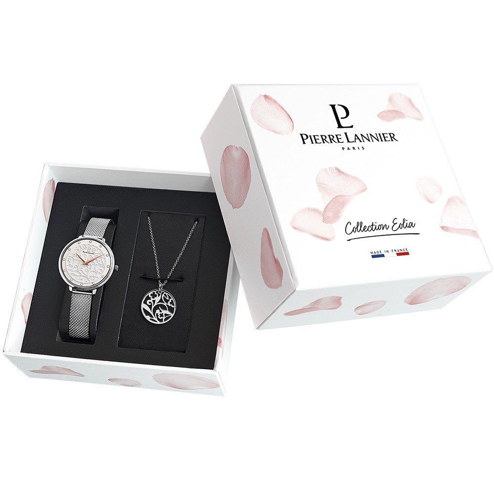Coffret de montre Pierre Lannier Eolia 366F608 et collier vue 2
