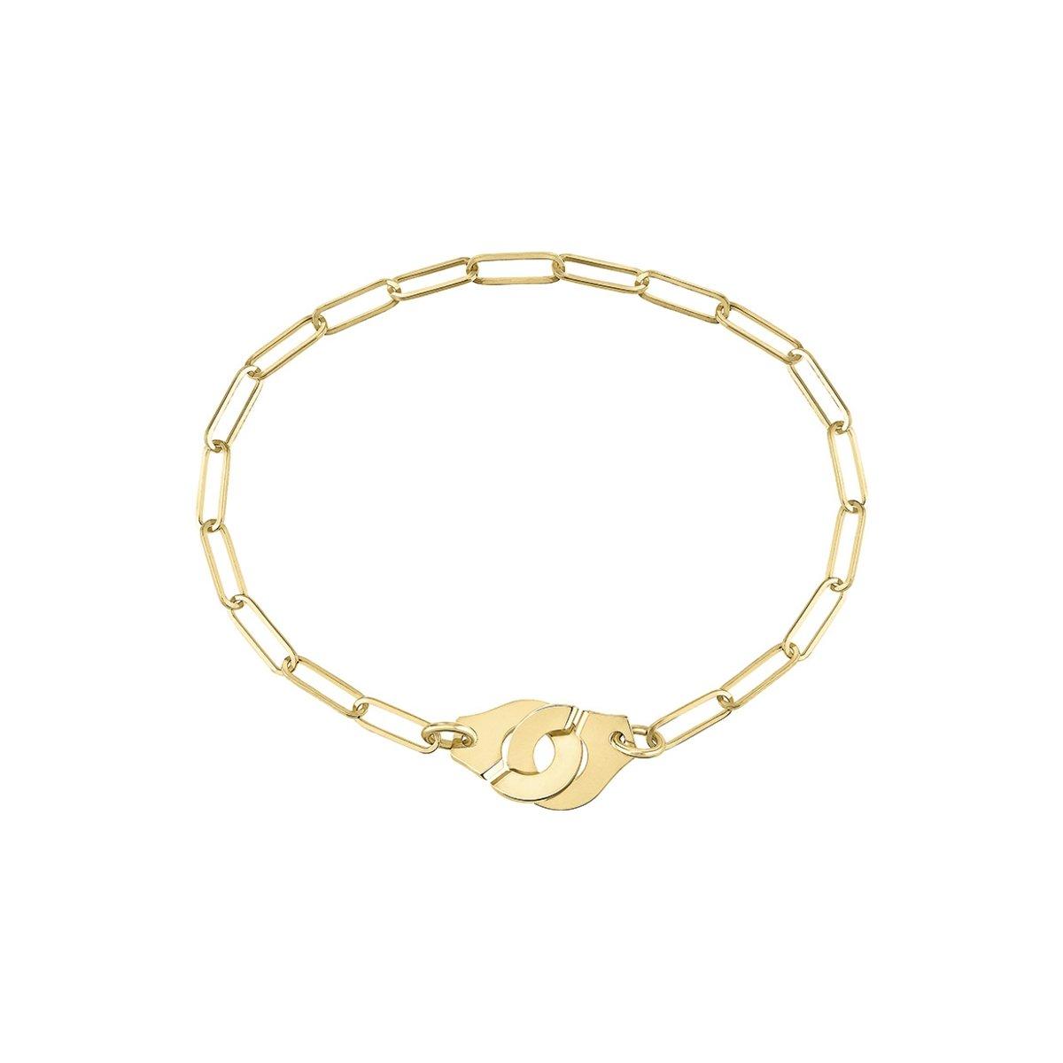 Bracelet dinh van Menottes dinh van R10 en or jaune vue 1