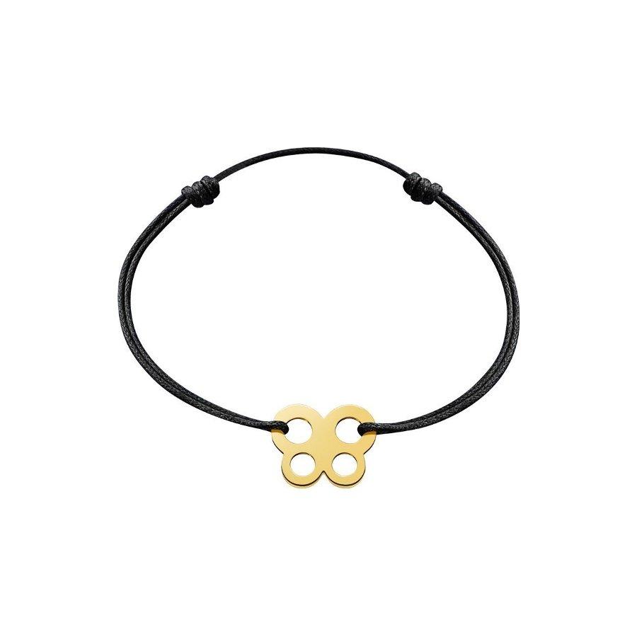 Bracelet sur cordon dinh van Bubbles papillon en Or jaune