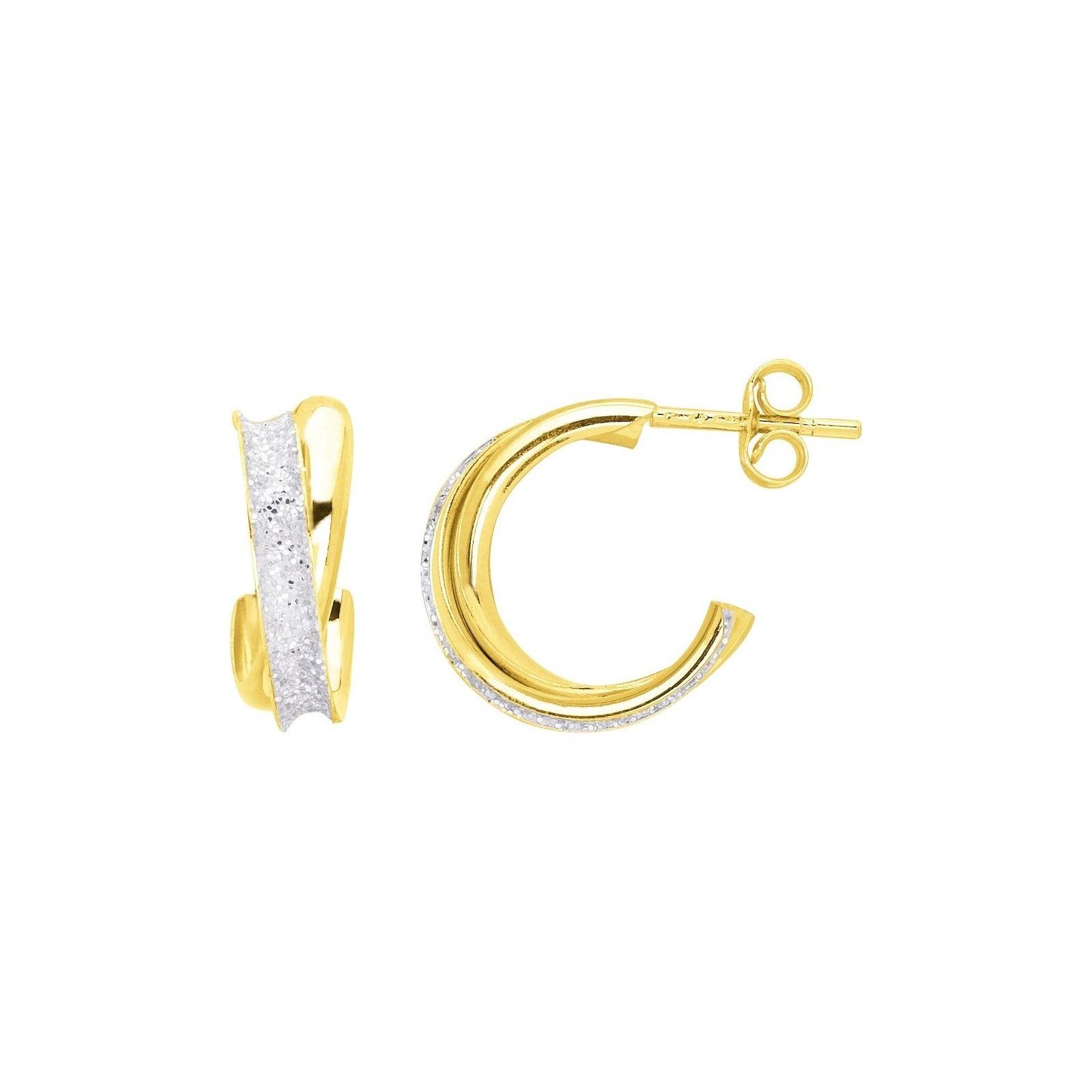 Boucles d'oreilles 3/4 anneaux en or jaune
